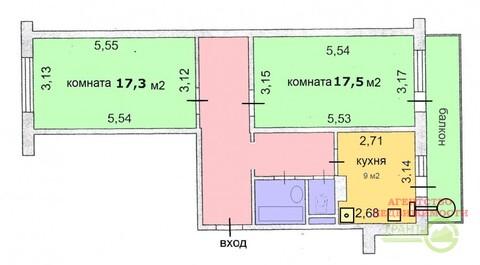 2-х комнатная квартира 61 м2 в новом доме с индивидуальным отоплением ., Купить квартиру в Белгороде по недорогой цене, ID объекта - 319695687 - Фото 1