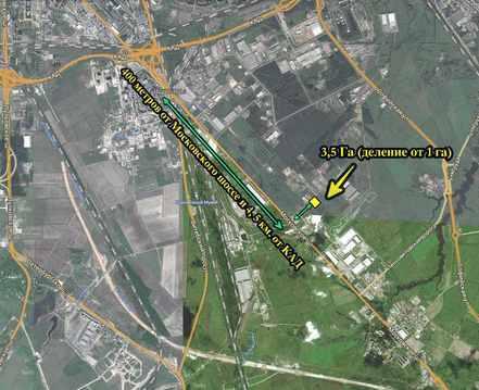 Участок 3,5 Га, Промзона Шушары (4 км от КАД) - Фото 1