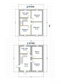 Дом 120 кв.м, Борский р-н, Бор , участок 5 соток, в черте города - Фото 5