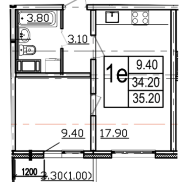 Объявление №50572347: Продаю 1 комн. квартиру. Санкт-Петербург, ул. Дыбенко, 4, к 1,