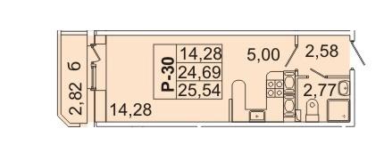 2 533 880 Руб., Продам студию. Кондратьевский пр-кт, д.58 к.1-1, Купить квартиру в Санкт-Петербурге по недорогой цене, ID объекта - 317898158 - Фото 1