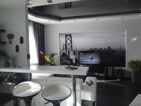 Дорогая стильная квартира-студия с дизайнерским ремонтом. джакузи 600л - Фото 1