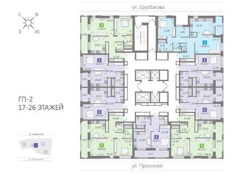 Продажа двухкомнатная квартира 56.48м2 в ЖК Каменный ручей гп-2 - Фото 2