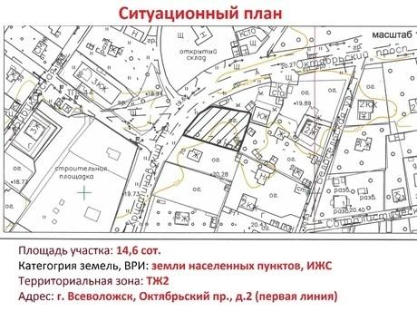 Продажа участка, Всеволожск, Всеволожский район, Октябрьский пр-кт.