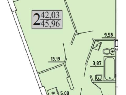 1 884 360 Руб., Продажа однокомнатной квартиры в новостройке на улице Хользунова, 99 в ., Купить квартиру в Воронеже по недорогой цене, ID объекта - 320574503 - Фото 1