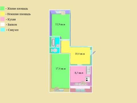 Продажа трехкомнатной квартиры на улице Лободина, 61 в Черкесске, Купить квартиру в Черкесске по недорогой цене, ID объекта - 319936716 - Фото 1