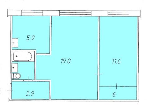 2 комнатная в Зеленой роще - Фото 1