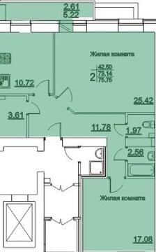ЖК Журавли Даурская 48а двухкомнатная квартира рядом м.Горки