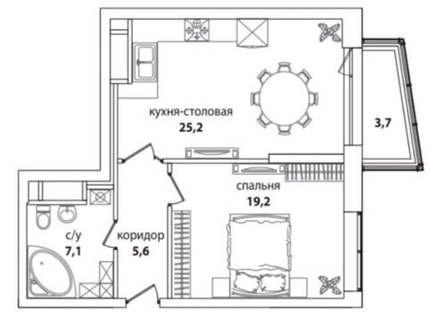 """1-комнатная квартира Premium класса в ЖК""""Долина Сетунь"""" - Фото 5"""