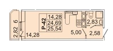 2 545 320 Руб., Продам студию. Кондратьевский пр-кт, д.58 к.1-1, Купить квартиру в Санкт-Петербурге по недорогой цене, ID объекта - 317898152 - Фото 1