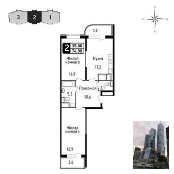 Продажа квартиры, Балашиха, Балашиха г. о, Ул. Некрасова - Фото 1