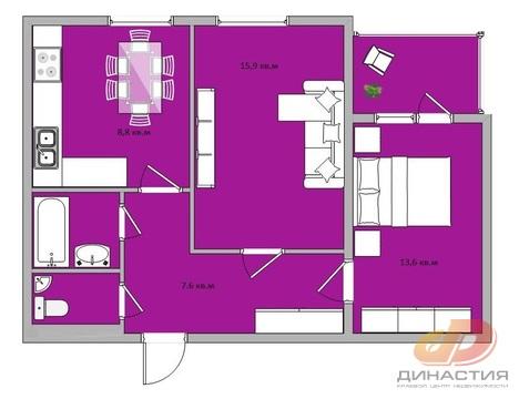 Двухкомнатная квартира, кирпичный дом, требует ремонта. - Фото 4