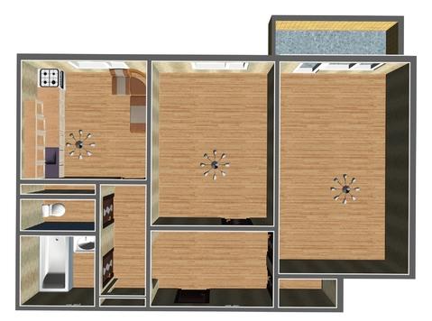 Сыктывкар, ул. Орджоникидзе, д.49, Купить квартиру в Сыктывкаре по недорогой цене, ID объекта - 322994705 - Фото 1