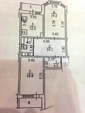 2-комн. квартира, Климовск, 74 м2, 4/17 эт,. - Фото 1