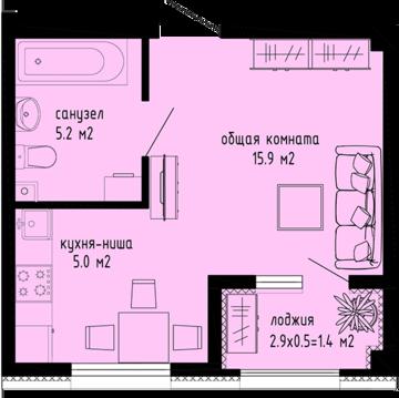 Продам 1к квартиру-студию в новом доме - Фото 3