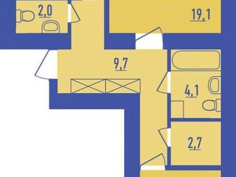 Продажа двухкомнатной квартиры на улице Гафури, 62 в Уфе, Купить квартиру в Уфе по недорогой цене, ID объекта - 320177192 - Фото 1