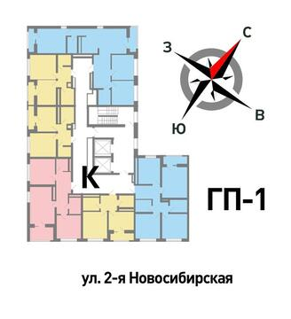 Продажа трехкомнатная квартира 71.16м2 в ЖК Солнечный гп-1, секция к - Фото 2
