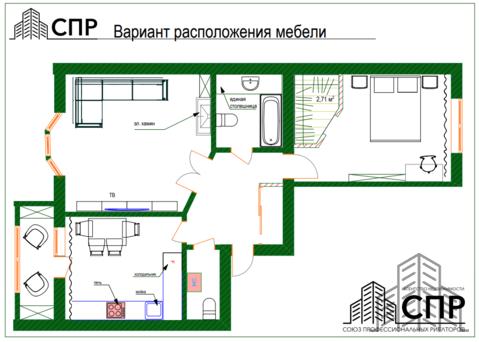 2 комнатная квартира повышенной комфортности в доме элит класса. - Фото 1