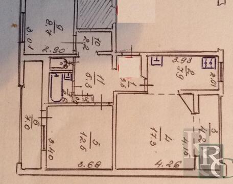 Продается трехкомнатная квартира на Пр.Победе - Фото 1