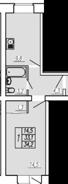 Продажа квартиры, Тюмень, Голышева, Купить квартиру в Тюмени по недорогой цене, ID объекта - 318370063 - Фото 1