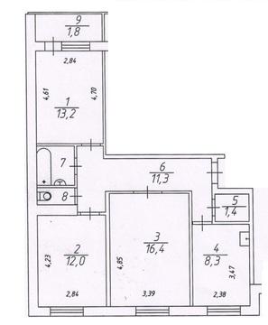 Продам 3-х комнатную ул.Энтузиастов д.21, площадью 65 кв.м, на 5 этаж