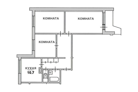 Продается 3-комн. квартира 74 кв.м. метро Отрадное - Фото 2