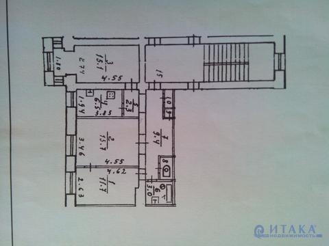 3 комнатная квартира Псков Октябрьский проспект 31 - Фото 1