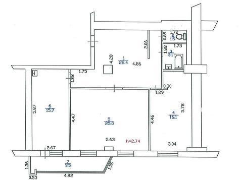 Продажа 2 комн квартиры 88м2 в Ленске, Первомайская 32а - Фото 5