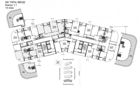 Продам 3к. квартиру. Жукова ул, д.3 к.1.1 - Фото 2