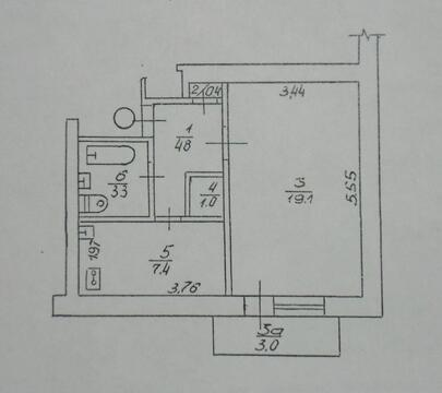 Однокомнатная 37 кв.м, 2 этаж, аогв, Продажа квартир в Евпатории, ID объекта - 321468584 - Фото 1