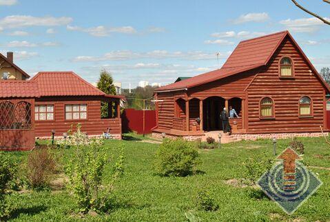 Дом и баня на участке 15 соток в с. Cовхоз Боровский у г. Балабаново - Фото 1