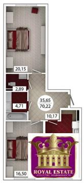 Продам 2 комнатную квартиру 70 м2 в ЖК «Castle Houses» - Фото 1