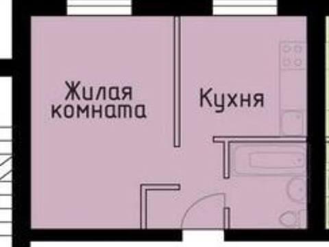 Продажа однокомнатной квартиры на улице Георгия Амелина, 19 в Калуге, Купить квартиру в Калуге по недорогой цене, ID объекта - 319812622 - Фото 1