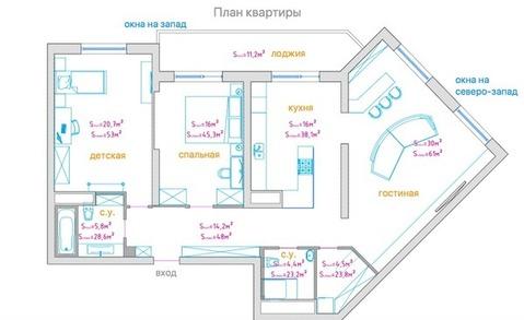 Светлая, комфортная квартира в ЖК Солнце в Кунцево - Фото 4