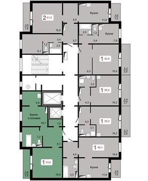 Продам 2-комн. квартиру 53,80 кв.м. ул.Апрельская 5а - Фото 3