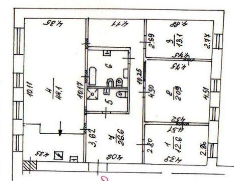 Продается просторная четырех комнатная квартира в дореволюционном . - Фото 2