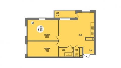 Продажа квартиры, Пенза, Ул. Антонова, Купить квартиру в Пензе по недорогой цене, ID объекта - 325994183 - Фото 1