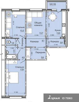 Продаю3комнатнуюквартиру, Барнаул, проспект Энергетиков, 2, Купить квартиру в Барнауле по недорогой цене, ID объекта - 321821602 - Фото 1