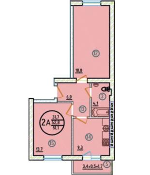 1 600 000 Руб., 2к. квартира в сданном и заселенном доме, Купить квартиру Новая Адыгея, Тахтамукайский район по недорогой цене, ID объекта - 319476356 - Фото 1