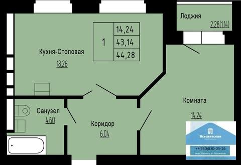 Продается 1-комнатная квартира в новом доме, мкр.Юрьевец - Фото 2