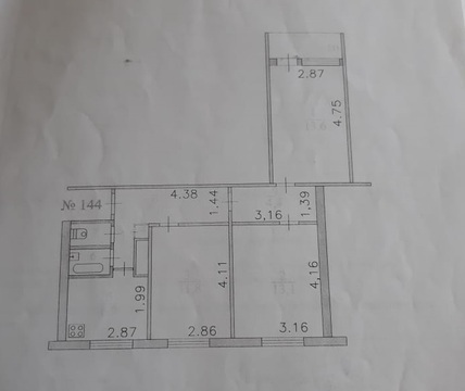 Продажа трехкомнатной квартиры в г. Коммунар! - Фото 1