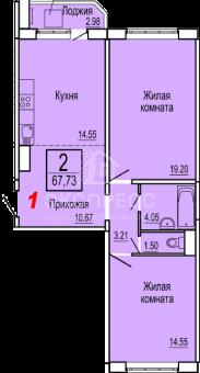 Продам 2-комн. квартиру, Патрушева, Александра Митинского, 3к1 - Фото 2