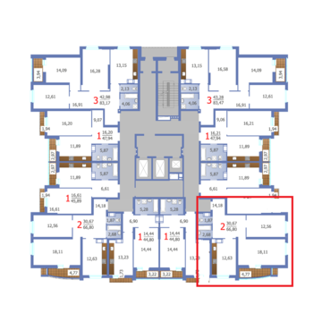 2 комнатная квартира в ЖК Дом на Волге - Фото 3