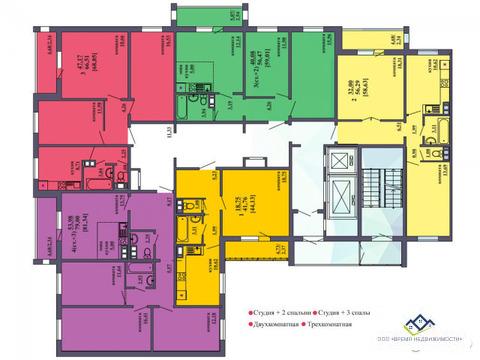 Продам 3-комн квартиру Архитектора Александрова д8 13эт,82кв.мцена3420 - Фото 2