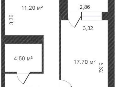 Продажа однокомнатной квартиры на улице Кибальчича, 28 в Калуге, Купить квартиру в Калуге по недорогой цене, ID объекта - 319812766 - Фото 1