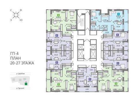 Продажа однокомнатная квартира 39.65м2 в ЖК Каменный ручей гп-4 - Фото 2
