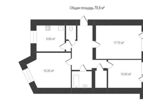 Продажа трехкомнатной квартиры на улице Космонавта Комарова, 30 в ., Купить квартиру в Калуге по недорогой цене, ID объекта - 319812722 - Фото 1