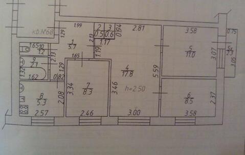 4к квартира 62кв.м. в Зернограде 1800 т.р. - Фото 5