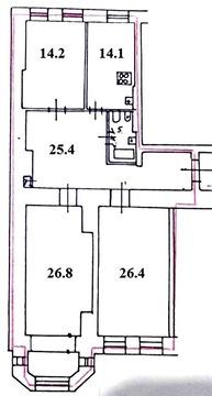 Двусторонняя квартира с полным ремонтом в центре города - Фото 1