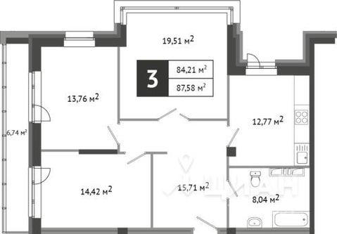 Продаю3комнатнуюквартиру, Абакан, проспект Дружбы Народов, 43, Купить квартиру в Абакане по недорогой цене, ID объекта - 322951007 - Фото 1